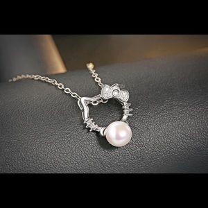 Jillerellas Castle Jewelry - Sterling Silver Necklace PLATED Hello Kitty